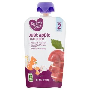 Parent's Choice Just Apple, Stage 2, 4 oz Pouch - Walmart.com