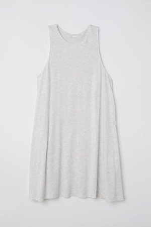 A-line Dress - Light gray melange - Ladies | H&M US