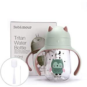 Bebamour 婴幼儿防漏吸管杯210 ML 附送清洁刷+吸管清洁套装