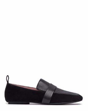 ADAM - SQUARE TOE LOAFERS | FLATS | All Shoes | Pedder Red