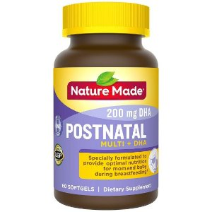 Nature Made Postnatal + DHA Softgels - 60ct : Target