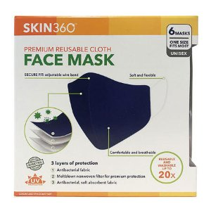 $13.23SKIN360 Premium Reuseable Cloth Face Mask, (6 pk.)