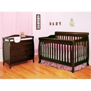 $298.98 优惠仅4天AFG Alice 4合1婴儿/儿童床+3层储物尿布台