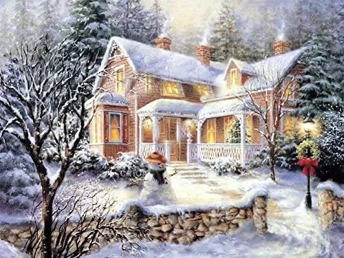 Colour Talk 5D 钻石画套装 12X16 英寸 白色圣诞