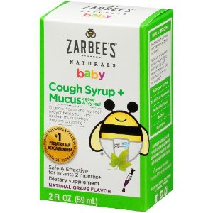 Zarbee's Naturals Baby Cough Syrup & Mucus Reducer Liquid - Grape - 2 fl oz : Target