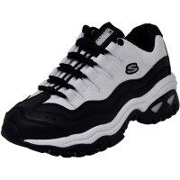 Skechers 女子休闲运动鞋 黑白配色
