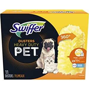 Swiffer 360度宠物版除尘掸替换装11个装