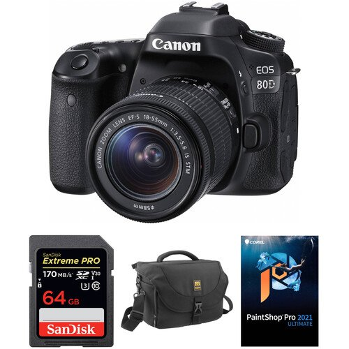 EOS 80D + 18-55mm 镜头 配件套装