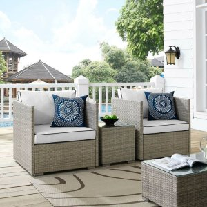 Highland Dunes Heinrich 3 Piece Conversation Set with Cushions | Wayfair