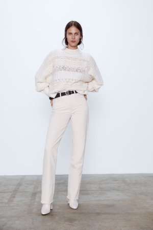 COMBINED HIGH NECK SWEATER-View all-KNITWEAR-WOMAN | ZARA United States
