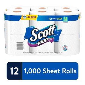 $8.53 补货Scott 卫生纸手纸 12卷