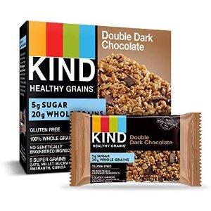 $20.62 一条只需$0.51KIND 双重黑巧克力坚果能量棒 1.2oz 40条