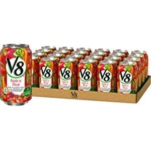 V8 100%纯天然低钠综合蔬菜汁 11.5盎司 24罐