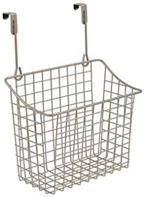 Amazon.com - Spectrum Diversified Over-The-Cabinet/Drawer Grid Basket, Large, Satin Nickel - Home Storage Baskets