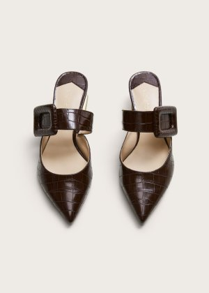 Shoe buckle tip croc-effect - Shoes Plus sizes | Violeta by Mango USA