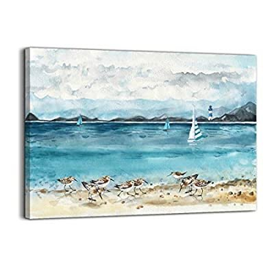 Mofutinpo 海边风情壁画 12 x 16