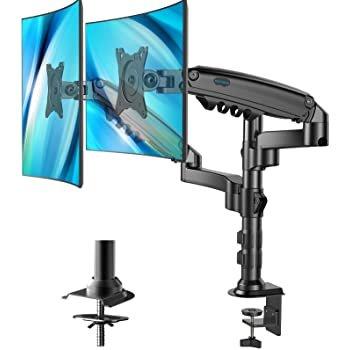 "HUANUO 可调节显示器支架 双屏32"" 单臂19.8lbs"