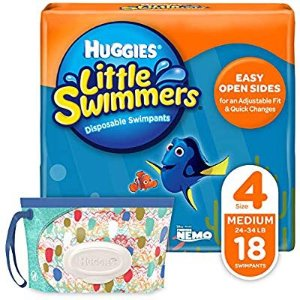 Huggies Little Swimmers Disposable Swim Diapers, Swimpants, Size 4 Medium (24-34 lb.)
