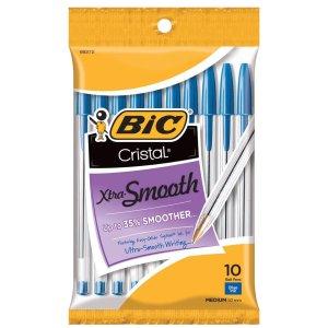 白菜价:BIC 超顺滑圆珠笔10支 蓝色