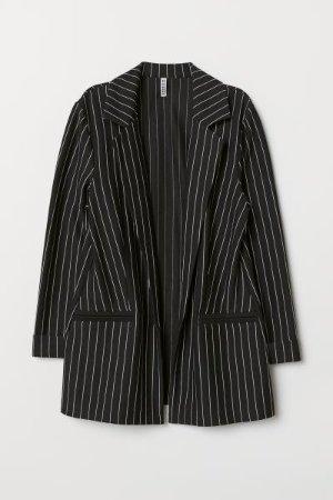 Jersey Jacket - Black/striped - Ladies | H&M US