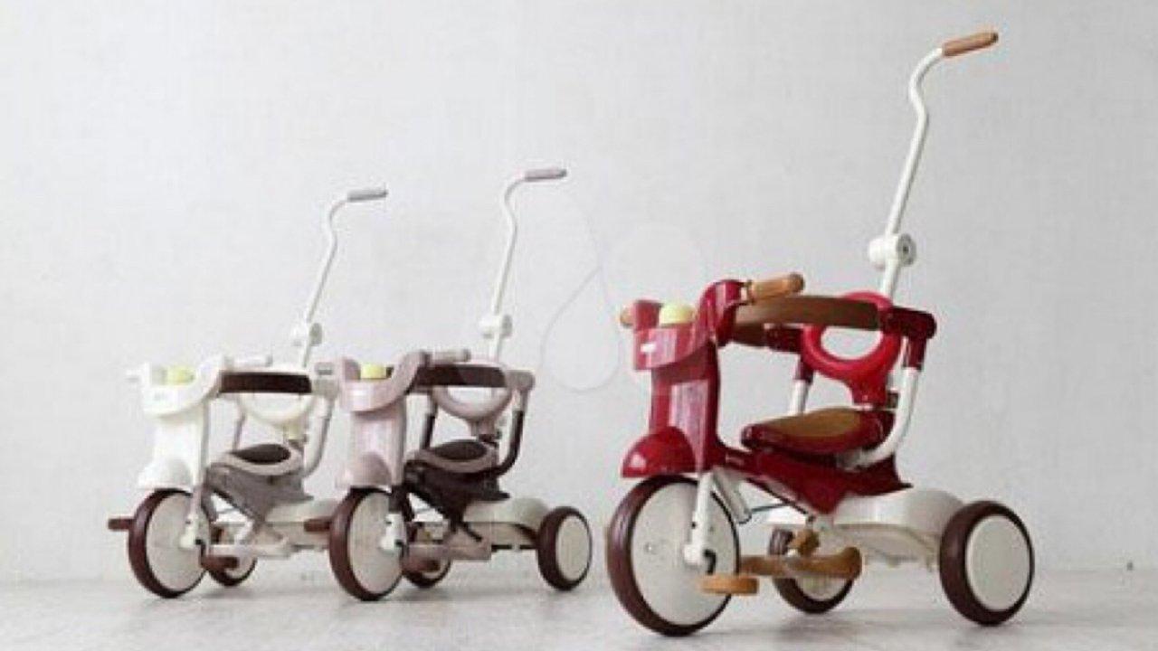 解放妈妈双手 | 遛娃、学步一车多用,iimo 2代可折叠式儿童三轮车