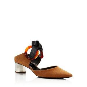 Proenza Schouler Women's Tortoise Grommet Block Heel Mules | Bloomingdale's