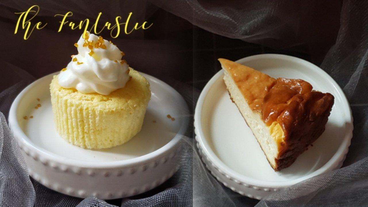 美味共享之---巴斯克酸奶酪芝士蛋糕,酸奶酪芝士纸杯蛋糕