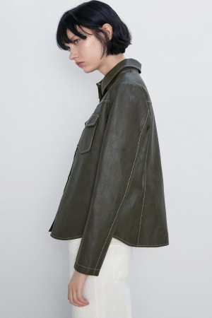 FAUX LEATHER JACKET-JACKETS | PUFFERS-WOMAN | ZARA United States