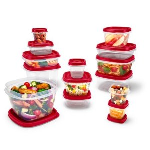 Rubbermaid Easy Find Vented Lids Food Storage Containers, 24-Piece