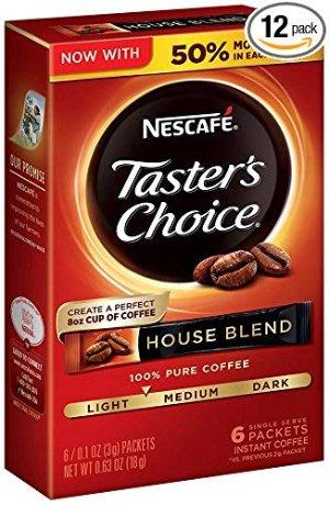 $10.03 一条只需$0.14Taster's Choice 金牌原味速溶咖啡粉 共72条