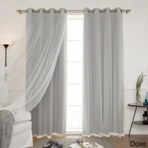 Shop Aurora Home Mix and Match Blackout Blackout Curtains Panel Set (4-piece) - On Sale - Free Shipping Today - Overstock.com - 11816183