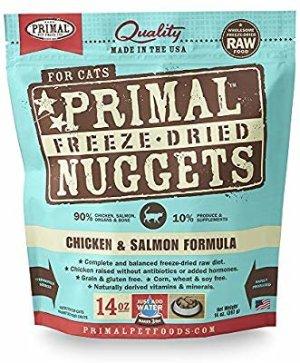 Amazon.com : Primal Pet Foods Freeze-Dried Feline Chicken and Salmon Formula, 14oz. : Feline Raw Food : Pet Supplies