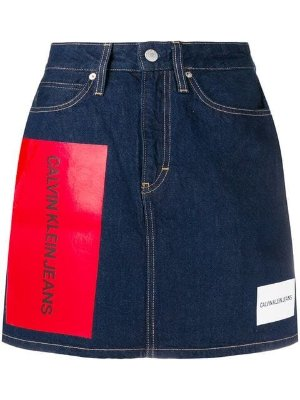 Calvin Klein Jeans multiple logo skirt $63 - Buy AW18 Online - Fast Global Delivery, Price