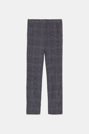 PLAID JOGGING PANTS-Smart-PANTS-WOMAN | ZARA United States