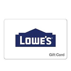 Lowe's 价值$25礼卡3张