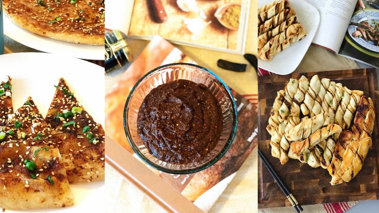 酱香生煎花卷和油酥饼/中式面点花样吃法/附自制酱料熬制方法