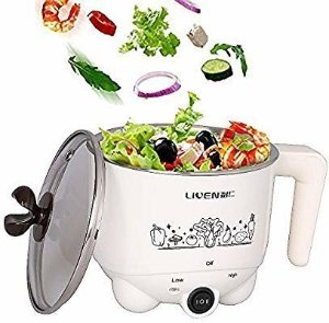 Amazon.com: 1L Liven Electric Hot Pot with 304 Stainless Steel Healthy Inner Pot, Cook Noodles and Boil Water Eggs Easy, Small Electric Cooker 600W 120V HG-X1007: Kitchen & Dining