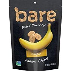 $10.13(原价$14.47)Bare Baked  天然香蕉干脆片 2.7oz 6袋 Gluten Free