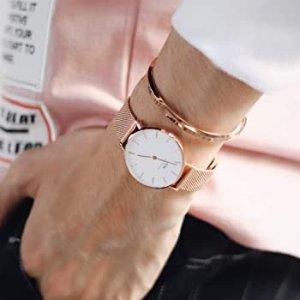 $109.85+包邮Daniel Wellington Petite 玫瑰金时装腕表