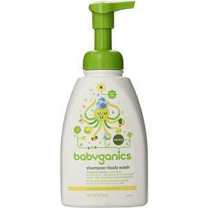 Amazon.com: BabyGanics, Squeeze & Foam, Shampoo + Body Wash, Chamomile Verbena, 7 floz: Health & Personal Care