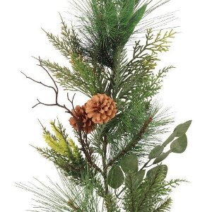 6' Christmas Unlit Mixed Greenery Decorated Grapevine Garland - Wondershop™ : Target