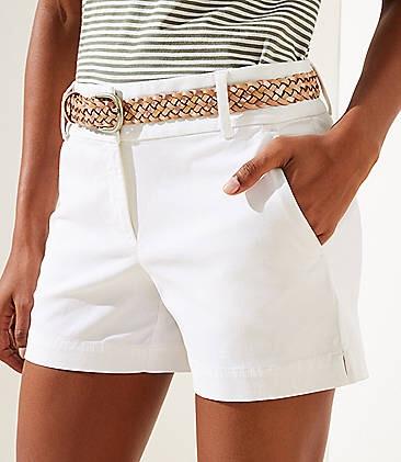 LOFT女士短裤:Tie Waist, Bermuda和Ruffle 系列