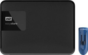 $89.99 (原价$159.99)WD Easystore 4TB 移动硬盘 + 32GB U盘