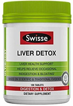 Amazon.com: Swisse Ultiboost Liver Detox | Supports Liver Health & Function | Provides Relief for Indigestion & Bloating | Milk Thistle, Artichoke & Tumeric | 180 Tablets: Gateway