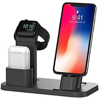 BEACOO Stand for iwatch Charging Stand Dock Station for AirPods Stand Charging Docks Holder Support for iwatch NightStand Mode and for iPhone