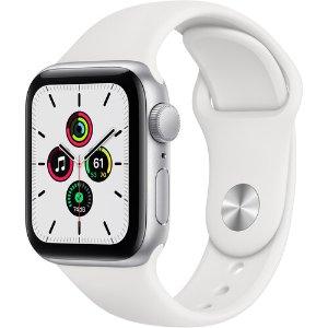 $269.00 新品立减$10Apple Watch SE (GPS, 40mm) 银色铝金属+白色运动表带