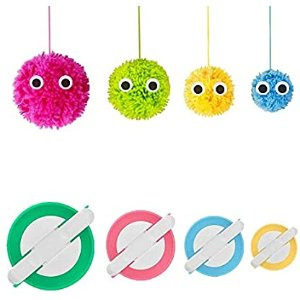 Amazon.com: Pom Pom Maker, 4 Sizes Pompom Maker Tool Set for Fluff Ball Weave DIY Wool Yarn Knitting Craft Project for Kids and Adult