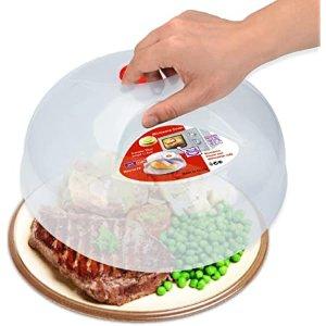 HENYU 微波炉专用餐盘加热盖,食物保湿防喷溅 11.5Inch