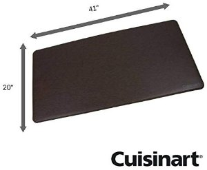 "Amazon.com: Cuisinart Solid Textured Chef Mat, Anti-Fatigue Non-Slip Pure Comfort Mat- Chocolate- 20""x41"", Ergonomic, Helps to eliminate pressure from standing: Gateway"