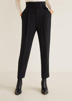 Belt high-waist trousers - Women | Mango USA